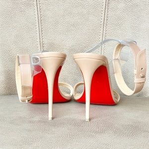Christian Louboutin Shoes - 💯🆑 JONATINA 100 IN NUDE STRAPPY HEELS 38 1/2